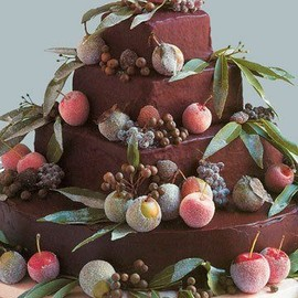 party! - Chocolate Chestnut Wedding Cake