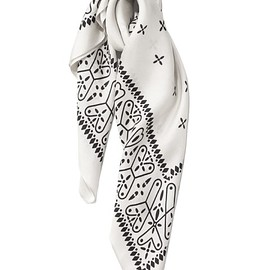 bal - Dragonfly Silk Scarf (white)