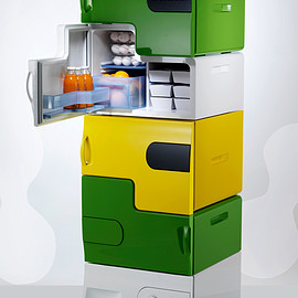 Electrolux by Stefan Buchberger - Flatshare – Stackable Refrigerator for Roommates