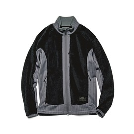 uniform experiment - POLARTEC® FLEECE STRIPE SIDE PANEL BLOUSON