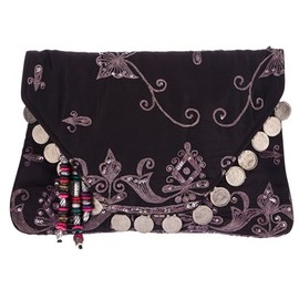 ANTIK BATIK - 'Saro' embroidered clutch