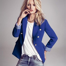 EMILIO PUCCI - Blue Double Breasted Blazer