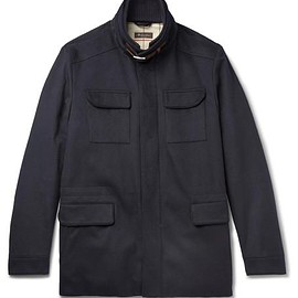 Loro Piana - Leather-Trimmed Storm System® Stretch-Cashmere Field Jacket