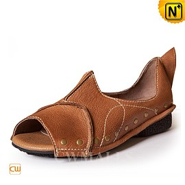 cwmalls - CWMALLS Open Toe Leather Sandals CW306222