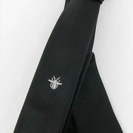 Dior Homme - Dior Homme White BEE Embroidery Tie