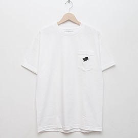 cup and cone - Pocket Tee - White x Black [Relaxed Fit]