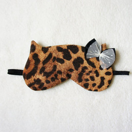 Naomilingerie  - Leopard Cat Sleep Eye Mask