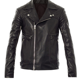BALMAIN - Leather biker jacket