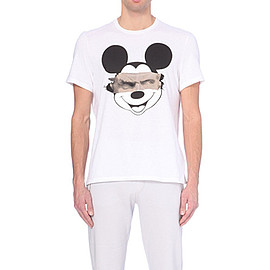 Neil Barrett - MICKEY MOUSE SCULPTURE PRINT T-SHIRT