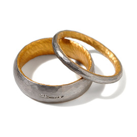 MALCOLM BETTS - Platinum gold wedding ring
