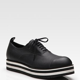 Comme des Garcons - Striped Leather Oxfords