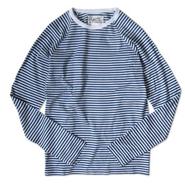 Charpentier de Vaisseau - STRIPES LONG SLEEVES CUTSEW BLUE×WHITE