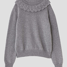 MARGARET HOWELL - LACE COLLAR JUMPER
