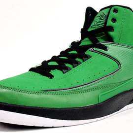 "NIKE - Air Jordan 2 RETRO QF ""Candy Pack""  Classic Green/White-Black"