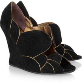 Yves Saint Laurent  Jinny suede wedges - Yves Saint Laurent