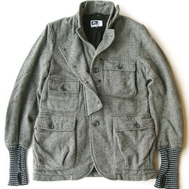 Engineered Garments - Bike Jacket,Grey Wool Herringbone