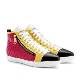 miu miu - LEATHER HIGH-TOPS