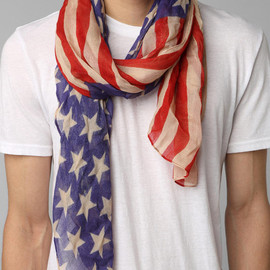 Lightweight Stars & Stripes Scarf