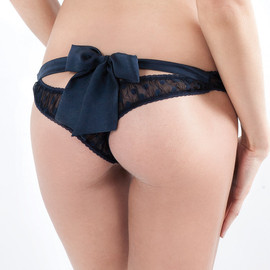 mimi holiday - Silk Satin Bow Back Thong