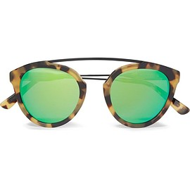 Westward Leaning - Flower 2 aviator-style tortoiseshell acetate mirrored sunglasses