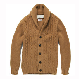 Kitsune - Cable Knit Camel Cardigan