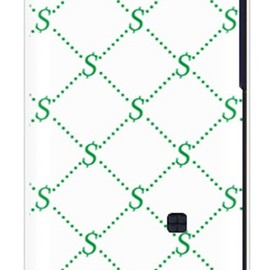 SECOND SKIN - S Monogram ホワイト×グリーン(クリア)design by ROTM / for AQUOS PHONE 104SH/SoftBank