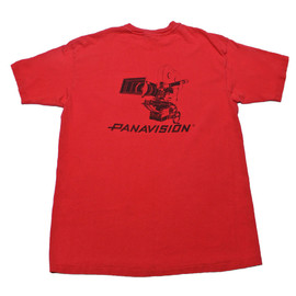VINTAGE - Vintage 1980s Red Panavision Shirt Made in USA Mens Size Large