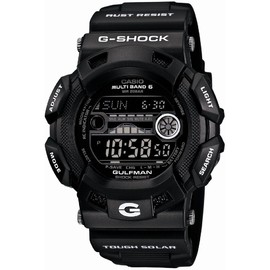 CASIO - CASIO G-SHOCK Garish Black GULFMAN Solar Radio Watch Multiband 6 GW-9110BW-1JF