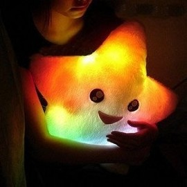 Smile Star Design Color Changing Thrown Pillow - $12.84