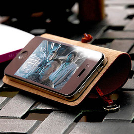 EVOUNI - Leather Arc Cover for iPhone 4, 4s