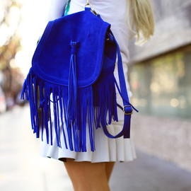 urban outfitters - Urban Outfitters Angela Suede Fringe Backpack