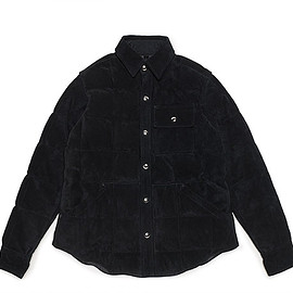 Crescent Down Works - LOFTMAN別注 Leather Down Shirts-Black