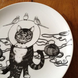 "D[di:] - ""Cat with Elizabeth collar"" Plate"