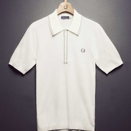 Fred Perry - Knitted Shirt With Broken Tipping
