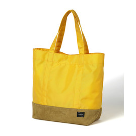 "HEAD PORTER - ""JACKSON"" SHOPPING BAG (L) YELLOW"