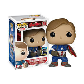 FUNKO - POP! Avengers Age of Ultron Captain America (Unmasked Version)