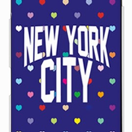 SECOND SKIN - NYC マルチハートドットネイビー (クリア) design by Moisture / for DELL Streak Pro GS01/EMOBILE