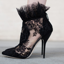 JIMMY CHOO - JIMMY CHOO Kamaris Lace Ankle Bootie