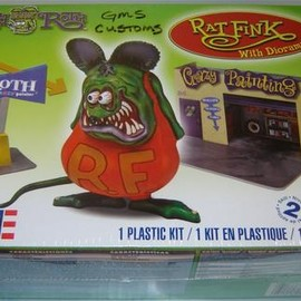 Revell - PLASTIC KIT RAT FINK With Diorama