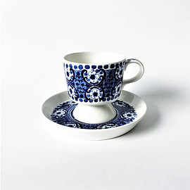 Arabia - finland Ali Blue coffee cup and saucer