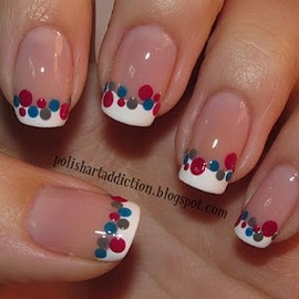 frenchy dots nails