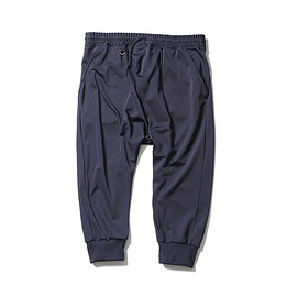 SOPHNET. - RIBBED SARROUEL CROPPED JERSEY PANT