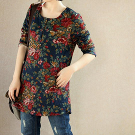 shirt - Simple Pleasures/ Cotton tunic Bottoming shirt dress