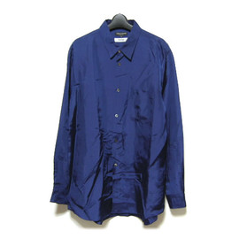 District UNITED ARROWS, COMME des GARCONS HOMME PLUS - 紺キュプラ長袖シャツ