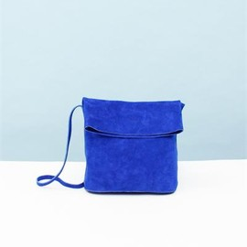 Creatures of Comfort - Fold Over Leather Purse - Blue