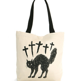 Candy Stripper - CROSS CAT TOTE BAG