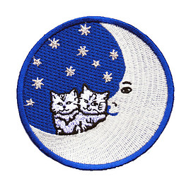 Muffy Brandt - CATS ON THE MOON PATCH