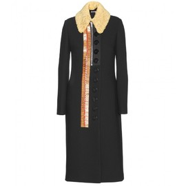 miu miu - EMBELLISHED WOOL-BLEND COAT