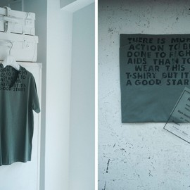 Maison Martin Margiela - 'RE-EDITION' of the original AIDS t-shirt from 1994 in forest green