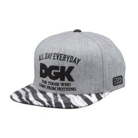 DGK - FROM NOTHING ZEBRA SNAPBACK (Ath Heather/Zebra)